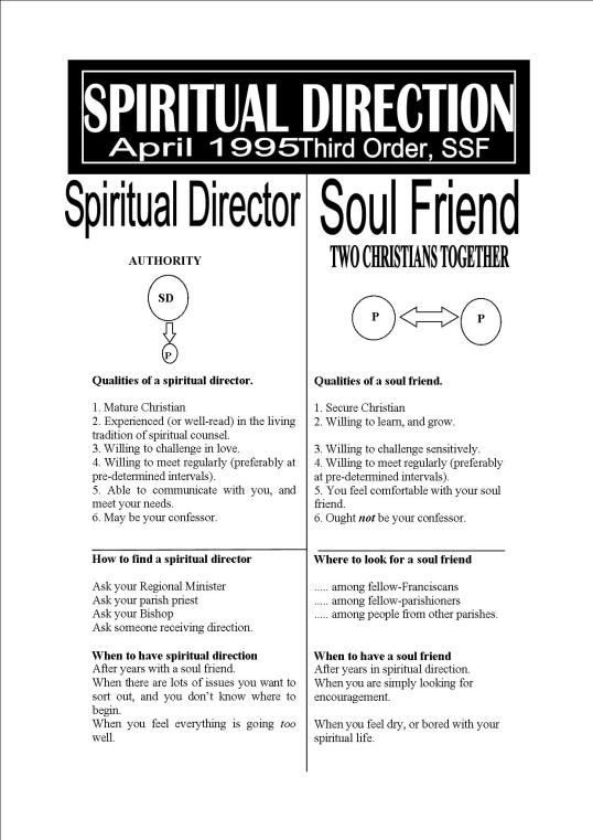 Spiritual Director or Soul Friend?